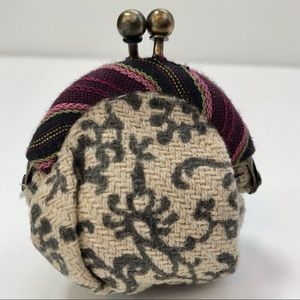 Free People coin purse 2 inch kiss lock hinge